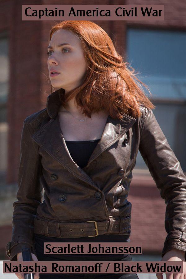 Scarlett Johansson Captain America Winter Soldier Brown Jacket Celebrity Outfits Brown Jacket Scarlett