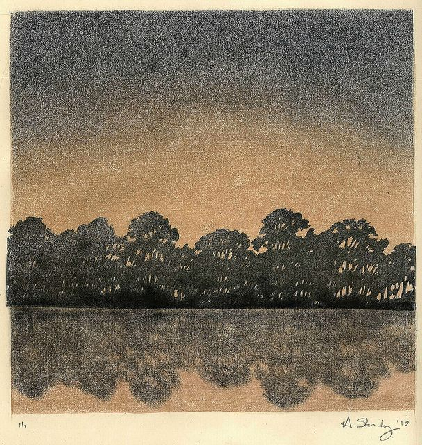 treeline monoprint by starkeyart, via Flickr