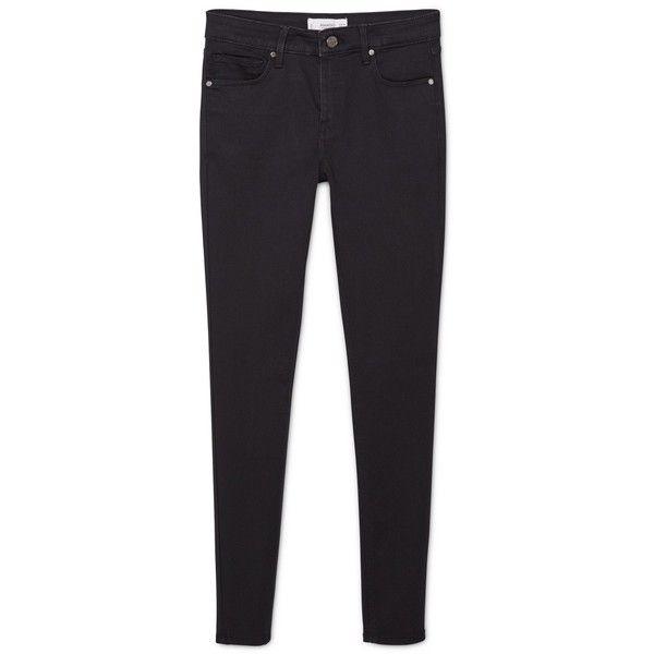 MANGO Skinny Elektra Jeans (3325 RSD) ❤ liked on Polyvore featuring jeans, zipper jeans, zipper skinny jeans, skinny jeans, 5 pocket jeans and skinny fit jeans