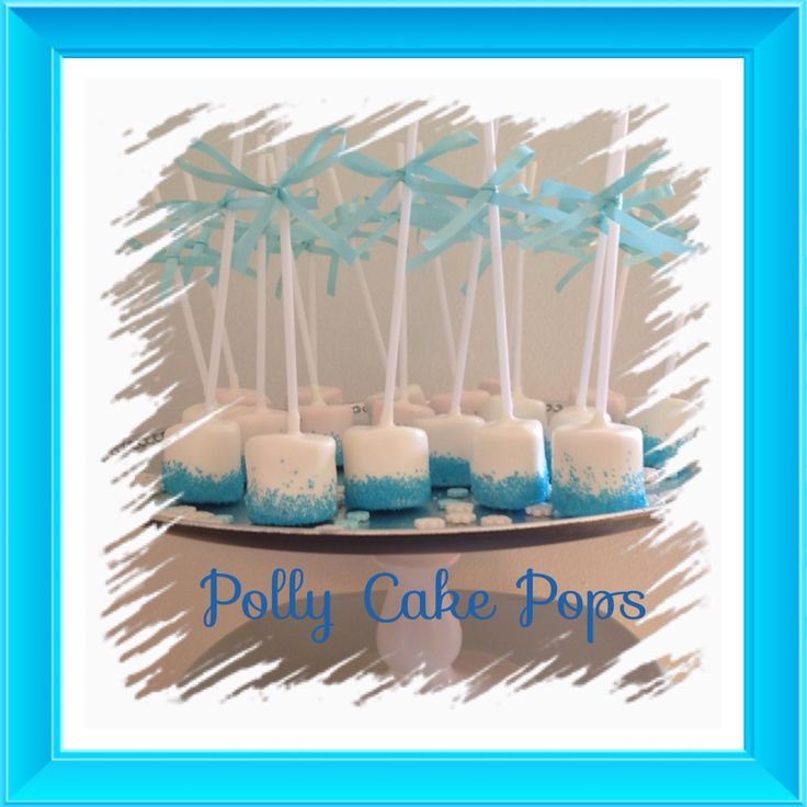 Chocolate covered marshmallows sprinkled with blue sparkly sugar:) #marshmallows # frozen
