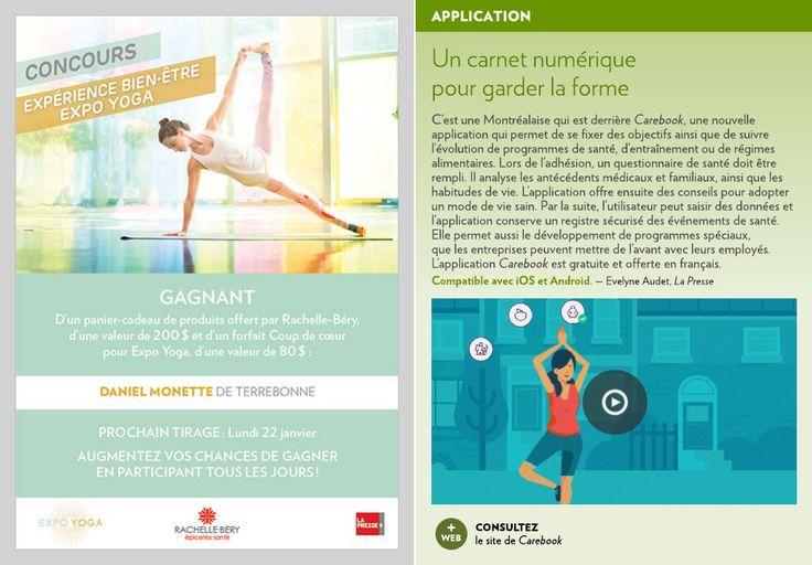 C'est une Montréalaise qui est derrière Carebook, une nouvelle application qui permet de se fixer des objectifs ainsi que de suivre l'évolution de programmes de santé, d'entraînement ou de régimes alim