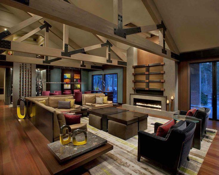 Modern Mountain Dwelling Designed To Soak In Views Of Lake Tahoe. Mountain  Home InteriorsModern ... Part 71