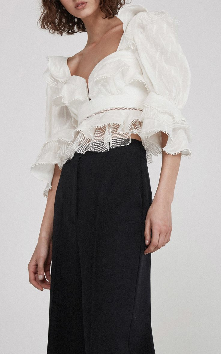 Acler Basque Ruffle Top