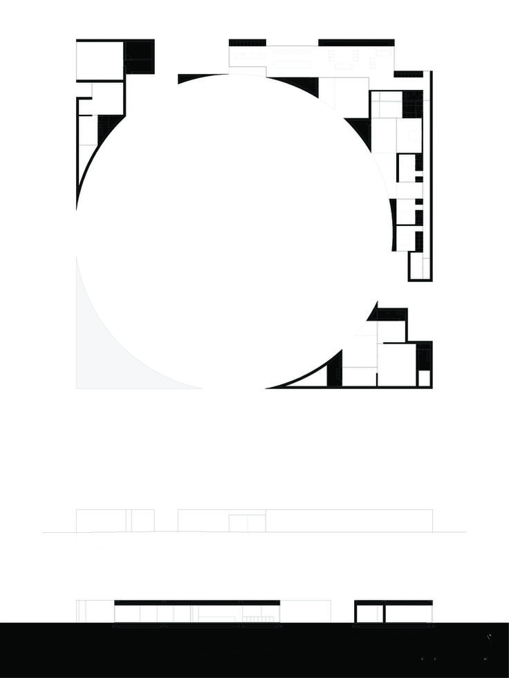 House in Alentejo Coast,Plan and Sections