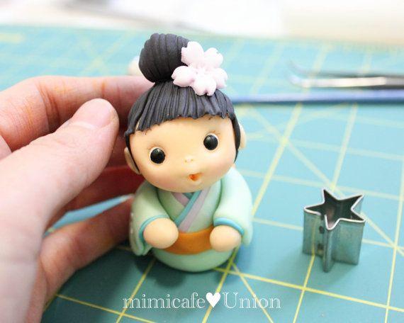Kokeshi Dolls Cupcake Toppers 5 Kokeshi Dolls 1 by mimicafeunion