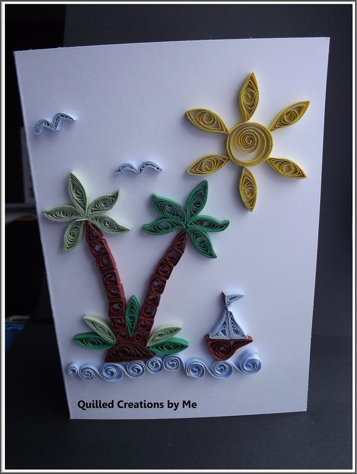 Quilling Card Making Ideas Part - 49: Quilled Greeting Card