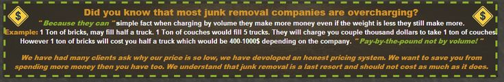 Junk removal, easy as 1-2-3 | Trash Waste Garbage Rubbish Removal: Did you know that most junk removal companies are ...
