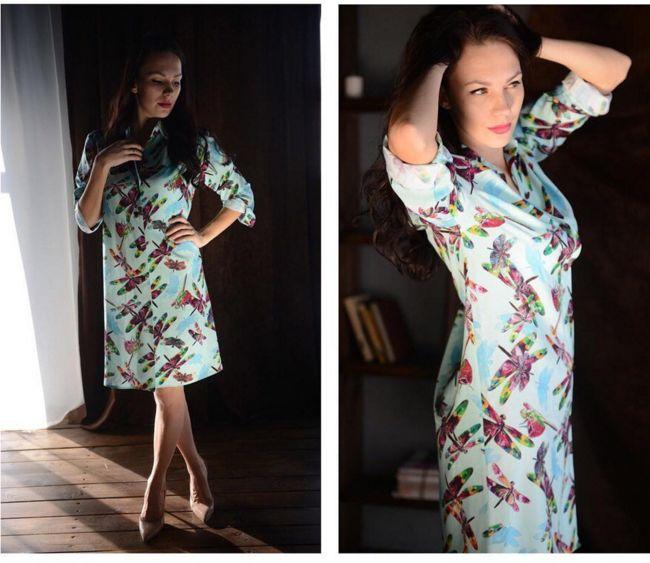 Платье-рубашка, штапель