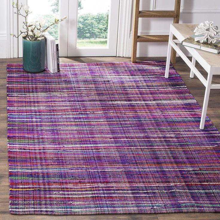 safavieh rag cotton rug bohemian handmade purple multi cotton rug x