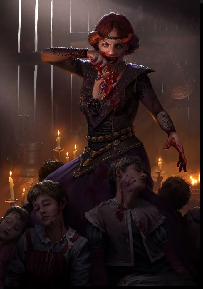 Gwent Images Card Art Vampire Art Witcher Monsters Witcher Art