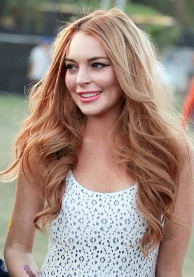 hair only. still trying to figure out what is going on with her face. Lindsay Lohan, Red Hair