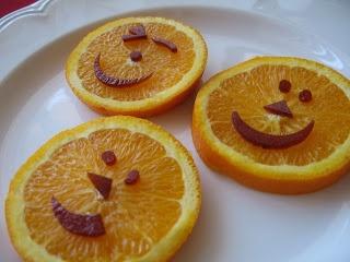 Healthy Halloween Snack Pumpkin Happy Face