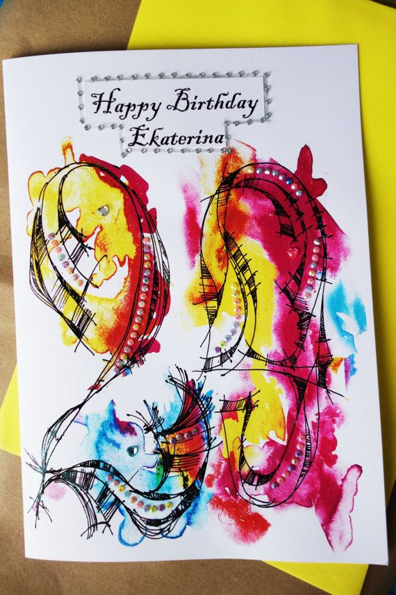 29th Birthday Greeting card Personalised cards by LubaFenwickGifts