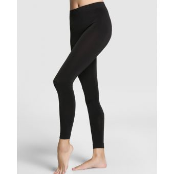 Leggins Pantalon Termico Frio Invierno Ropa Termica  Forro En Fleece - Negro Liso