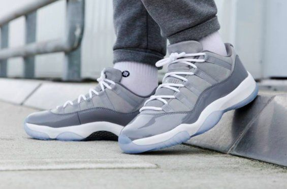 "1332fa7a85f2a Air Jordan 11 Low ""Cool Grey"" Style Code  528895-003 Release Date  April  28"