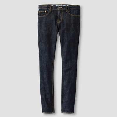 Men's Slim Jeans Dark Wash - Mossimo Supply Co. 40x30, Blue