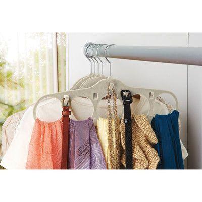 Simplify Velvet Accessories Coat Non-Slip Hanger Finish: Ivory