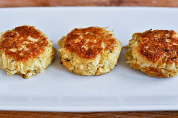 Simple crab cakes without all the crap... er... filler most of us get when we order them.  Can't wait to try!