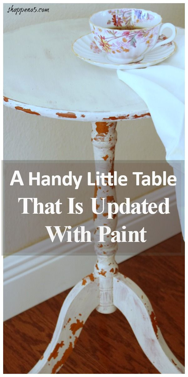 A Handy Little Table That Is Updated With Paint