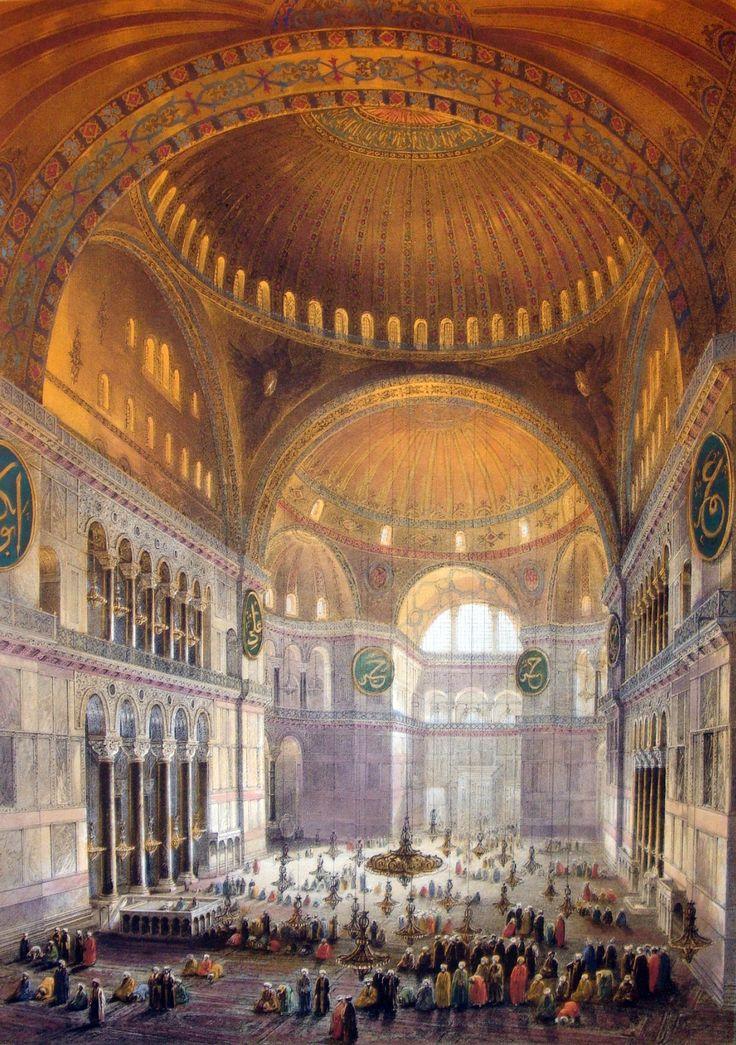 Hagia Sophia - символ «золотого века» Византии...в живописи. Обсуждение на LiveInternet - Российский Сервис Онлайн-Дневников