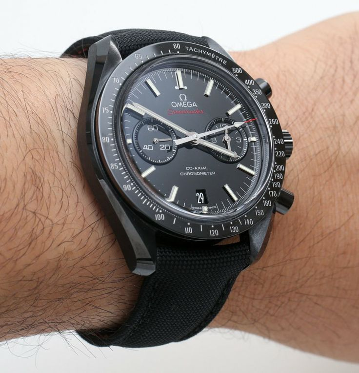 Omega Speedmaster Co Axial Chronograph Dark Side Of The Moon Black Ceramic Watch Review   omega