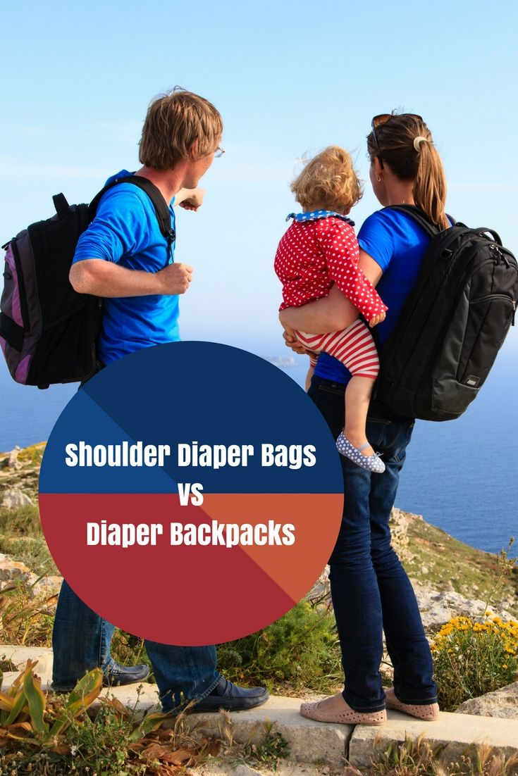 Shoulder Diaper Bags Vs Diaper Backpacks - Which One Is Best?     Let's face it - you will be lugging around a baby diaper bag for at least 3 years so you want a diaper bag that is high quality, comfortable and convenient.     One of the things you want to choose between is a shoulder diaper bag and a diaper backpack.     So which one is best?     #guestpost #diaperbag #shoulderdiaperbag #backpackdiaperbag