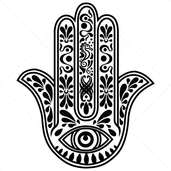Mão de Fátima, amuleto contra mau-olhado - Decoração em vinil Autocolante decorativo e Papel de parede - www.iconstore.pt