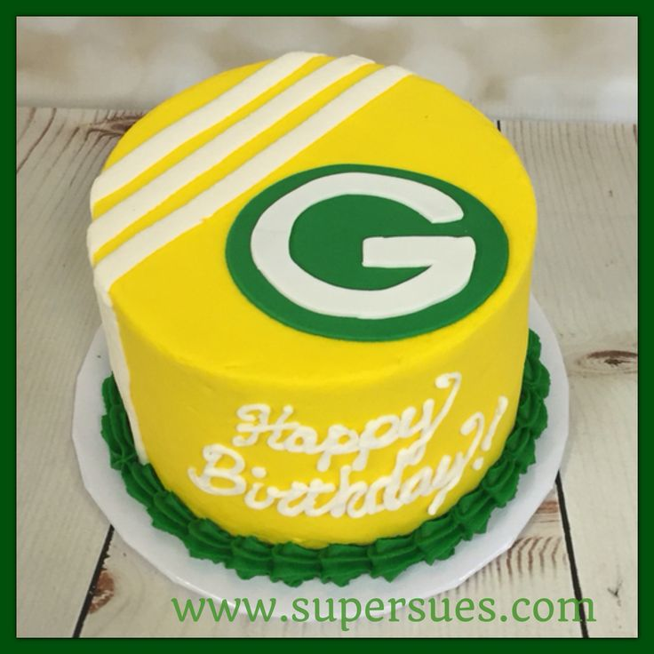 Green Bay packers mini birthday cake.