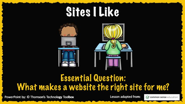 Sites I Like- Common Sense Media Digital Citizenship Lesson PowerPoint