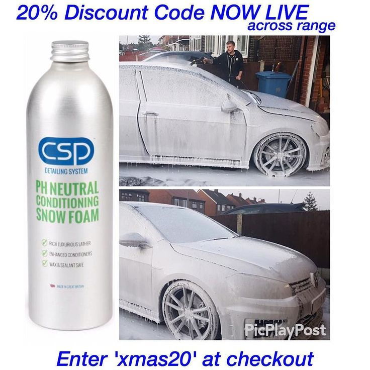 CSP pH Neutral Snow Foam.  use code 'xmas20'  20% discount on range NOW ! Quickly and safely lifts surface dirt and contamination from vehicle surface pooling them to the floor. Beware of inexpensive high foaming products with poor cleaning power that hold contamination to the surface  #CSPpHneutralSnowFoam Wax and Sealant Safe Enhanced Conditioners  Rich Luxurious Lather Prep Includes CSP pH Neutral Snow Foam. CSP Lubricated Conditioning Shampoo. CSP Non-Acidic Wheel Cleaner. CSP Reactive…