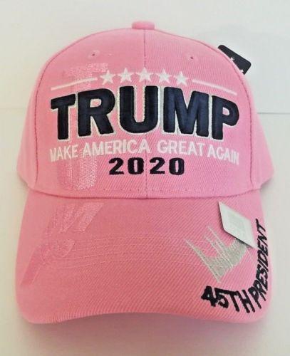 4107125f12c MAGA President Donald Trump Make America Great Again Hat Pink Adjustable Cap