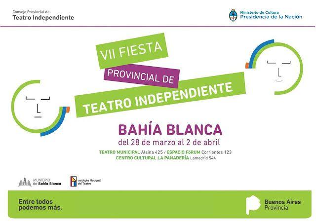 La Fiesta Provincial de Teatro Independiente se celebrará este año del 28 de marzo al 2 de abril en la localidad de Bahía Blanca con la ...