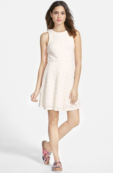 dee elle Textured Lace Tank Dress available at #Nordstrom