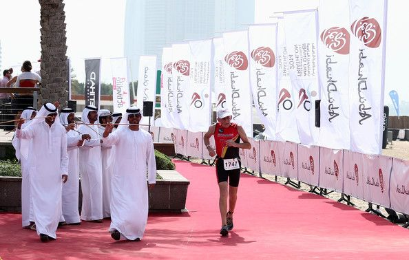 Peter Norman Peter Norman of Great Britain, the oldest competitor at the age of 78 finishes the Abu Dhabi International Triathlon on March 1...