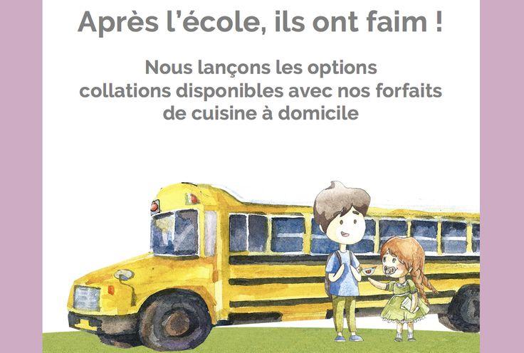 Collations pour les enfants après l'école. #Montreal