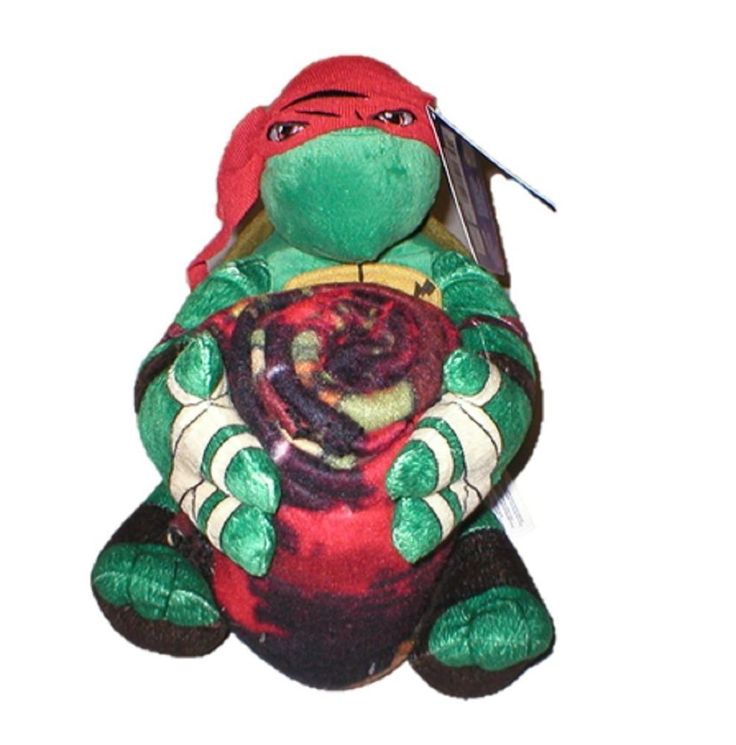 Ninja Turtle Decorative Pillow : Teenage Mutant Ninja Turtles Raphael Throw Blanket and Pillow Set (40