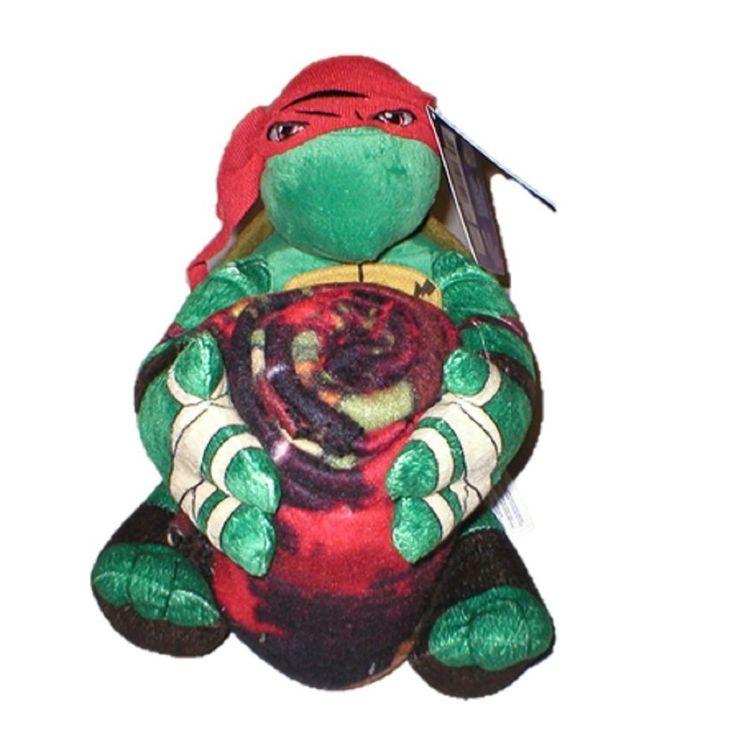 Ninja Turtle Decorative Pillow : Teenage Mutant Ninja Turtles Raphael Throw Blanket and Pillow Set (40