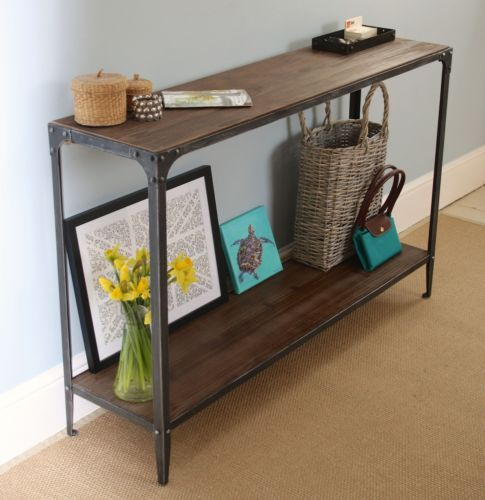 Console-Table-Urban-Vintage-Industrial-Rustic-Pewter