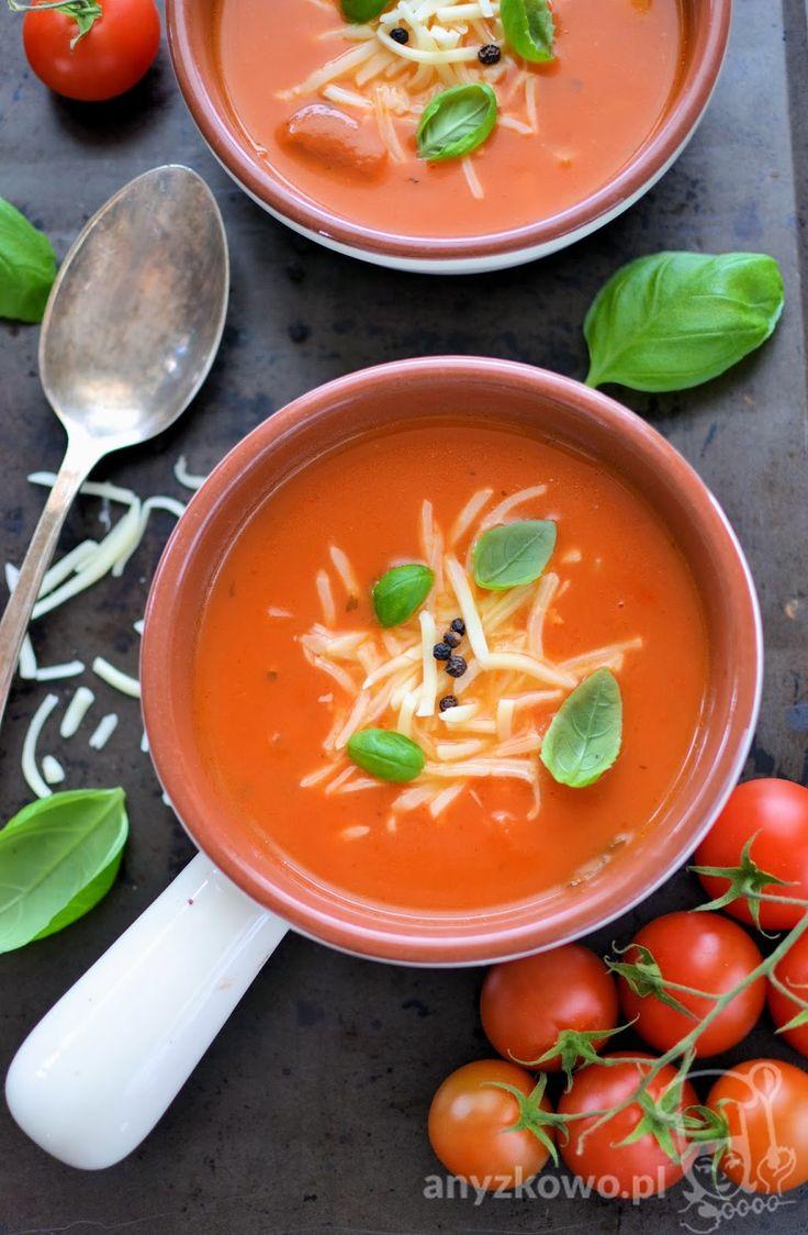 Anyżkowo: Kremowa zupa pomidorowa z mozzarellą