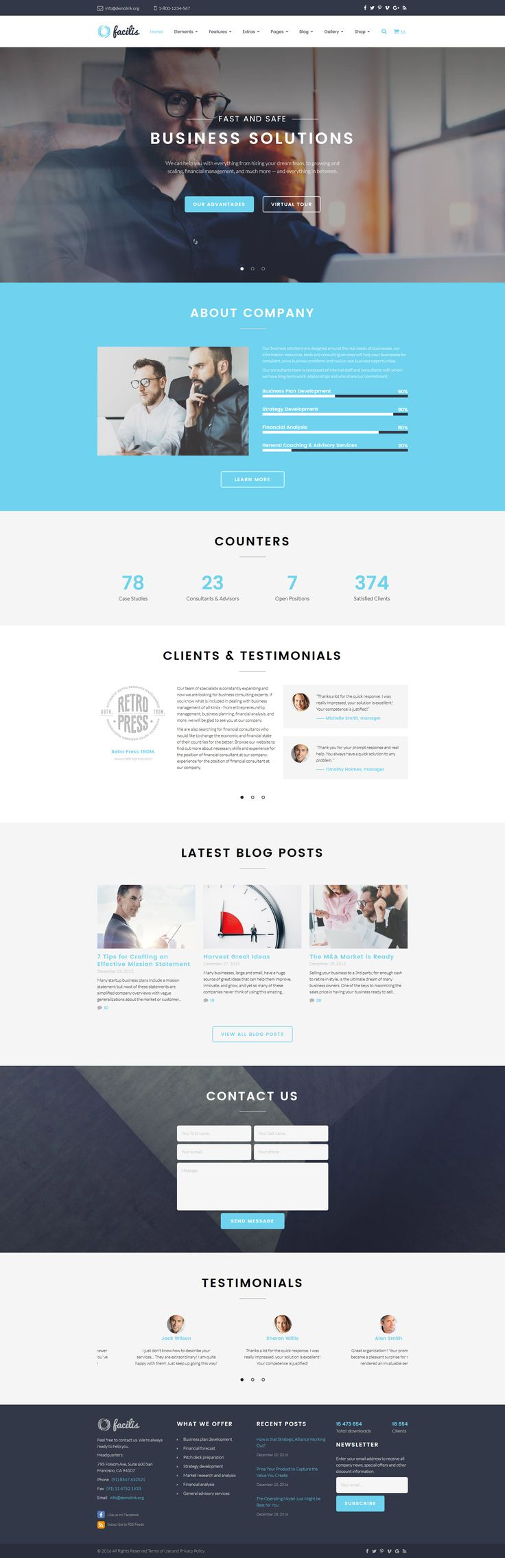 Facilis Website Template http://www.templatemonster.com/website-templates/facilis-website-template-58964.html