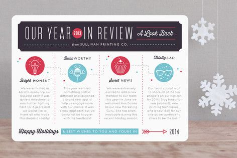 A Look Back Business Holiday Cards