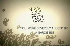 Not crazy. A recovery from narcissistic sociopath relationship abuse.