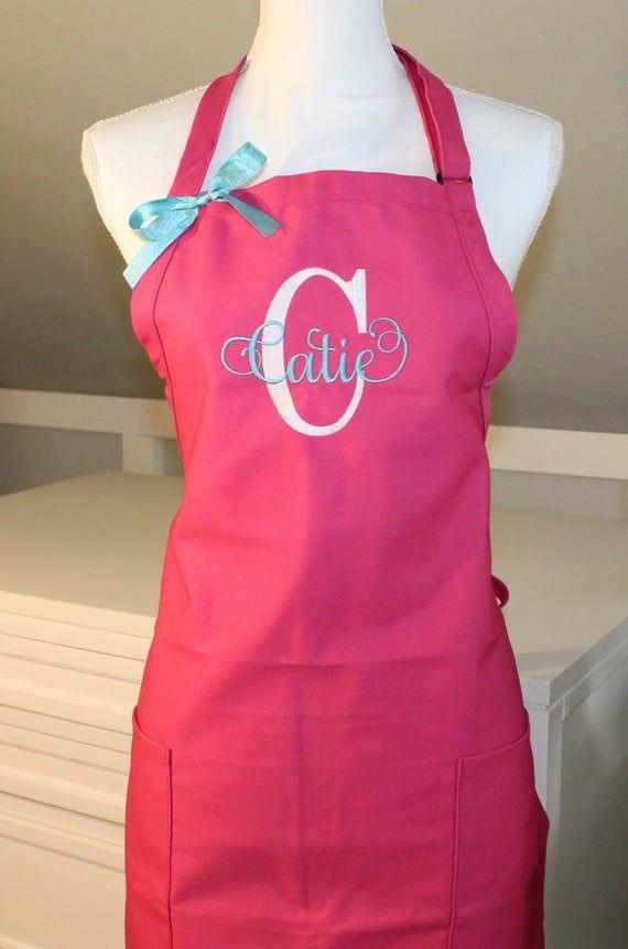 15 colors Blush Linen shabby chic girls apron Ready to ship  custom girl apron personalized girl apron