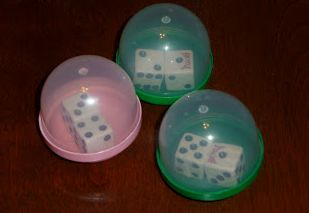 I called it Shake It Up to 20 Addition! Put students with a partner. Then, they shake twice and set it down on the table. The first student to call out the math fact gives theirself a point. The first to reach 20 wins! Nothing all that new. I just used the containers for fun and to cut down on flying dice!