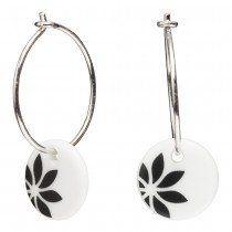 Andersen Finest Porcelain Hoop Earrings FLOWERS 399 052