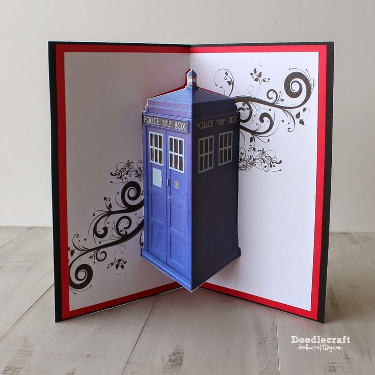 Doodlecraft Jon Pertwee Pop Up Cards 3rd Day Of Doctor
