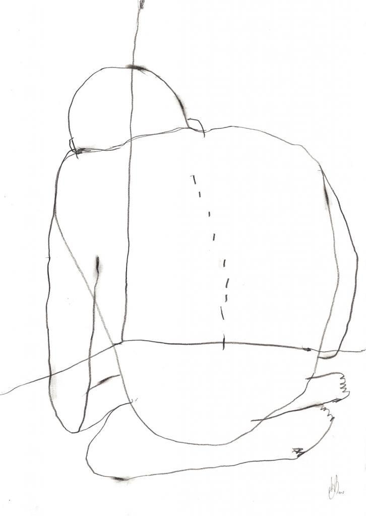 I feel invisible by My Buemann #art #artist #painting #drawing - Beauton Art Gallery - http://beautonart.com | http://beautonart.dk