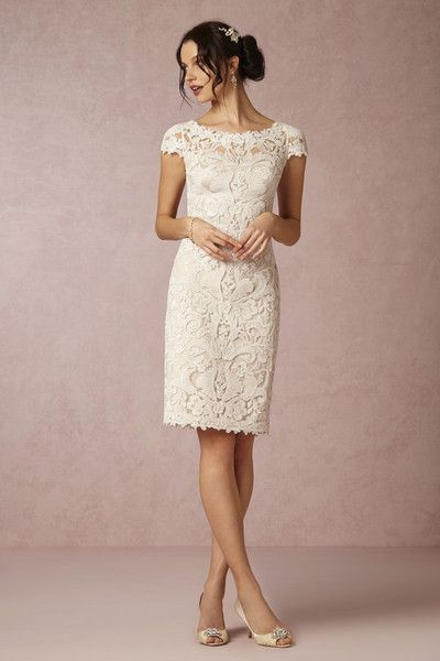 Style BHLDN HADLEY Dress Featuring allover scrolling embroidery, delicate cap-s…