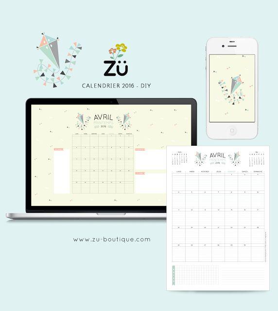 zü: Le calendrier DIY - AVRIL 2016