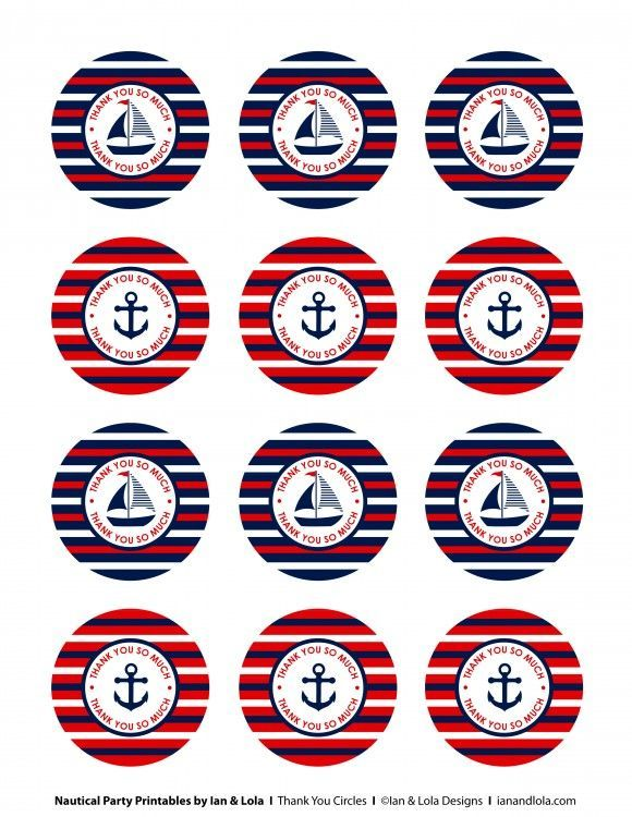 Free Nautical Party Printables from Ian & Lola Designs | Catch My Party